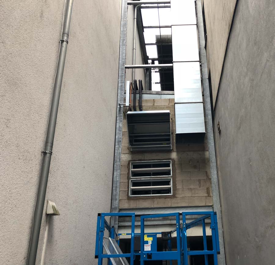 Cinemaxx Trier, Modernisierung Brandschutz an Lüftungszentrale